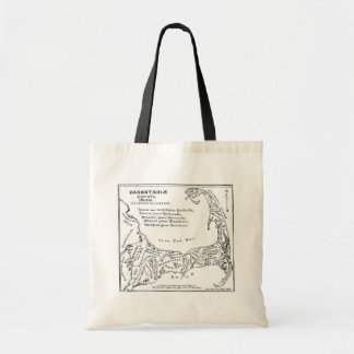 Vintage Map of Cape Cod (1890) Budget Tote Bag