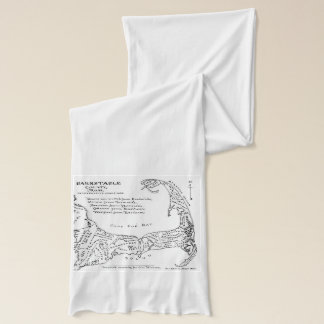 Vintage Map of Cape Cod (1890) Scarf
