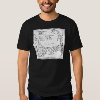 Vintage Map of Cape Cod (1890) Shirts