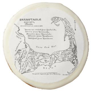 Vintage Map of Cape Cod (1890) Sugar Cookie
