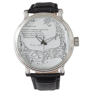 Vintage Map of Cape Cod (1890) Wrist Watches