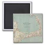 Vintage Map of Cape Cod (1917) 2 Inch Square Magnet