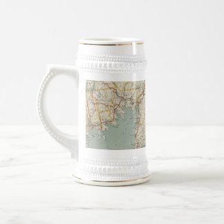 Vintage Map of Cape Cod (1917) Beer Stein