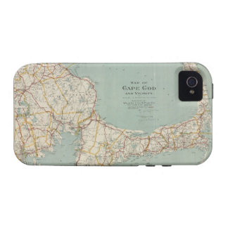 Vintage Map of Cape Cod 1917 Vibe iPhone 4 Covers