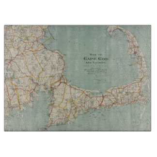 Vintage Map of Cape Cod (1917) Cutting Board