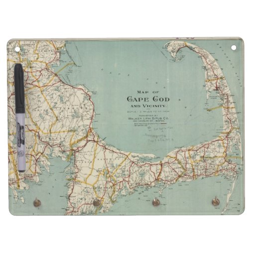 Vintage Map of Cape Cod (1917) Dry-Erase Whiteboard