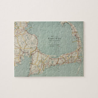 Vintage Map of Cape Cod (1917) Jigsaw Puzzle