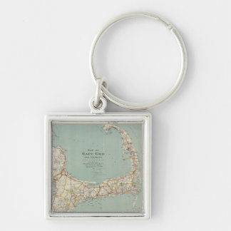 Vintage Map of Cape Cod (1917) Key Chains
