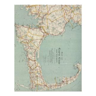 Vintage Map of Cape Cod (1917) Letterhead