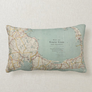 Vintage Map of Cape Cod (1917) Lumbar Pillow