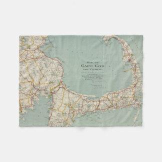 Vintage Map of Cape Cod (1917) Fleece Blanket