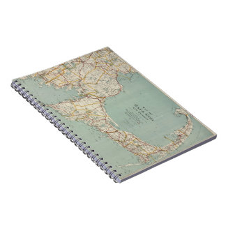 Vintage Map of Cape Cod (1917) Notebook