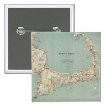 Vintage Map of Cape Cod (1917) Pin