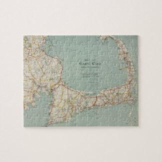 Vintage Map of Cape Cod (1917) Puzzles