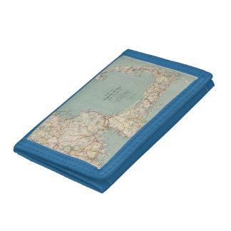 Vintage Map of Cape Cod (1917) Tri-fold Wallets
