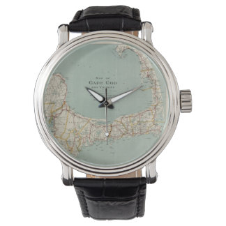 Vintage Map of Cape Cod (1917) Wrist Watch