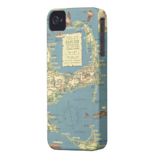 Vintage Map of Cape Cod 1940 iPhone 4 Case-Mate Cases