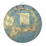Vintage Map of Cape Cod (1940) Dartboard With Darts