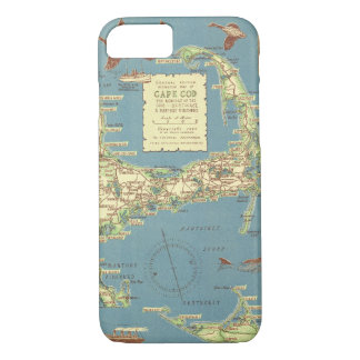 Vintage Map of Cape Cod (1940) iPhone 7 Case