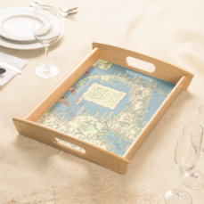 Vintage Map of Cape Cod (1940) Serving Tray