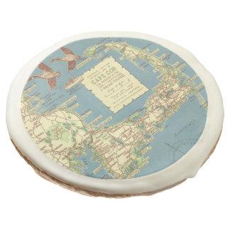 Vintage Map of Cape Cod (1940) Sugar Cookie