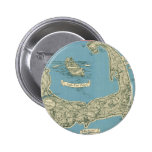 Vintage Map of Cape Cod (1945) 2 Inch Round Button