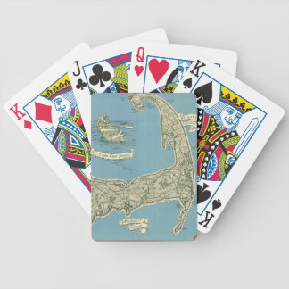 Vintage Map of Cape Cod (1945) Bicycle Playing Cards