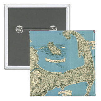 Vintage Map of Cape Cod 1945 Pins
