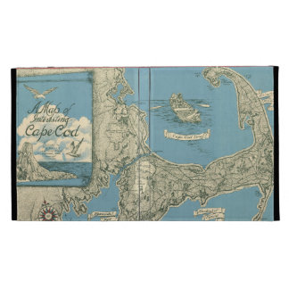 Vintage Map of Cape Cod (1945) iPad Case