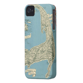 Vintage Map of Cape Cod (1945) iPhone 4 Covers