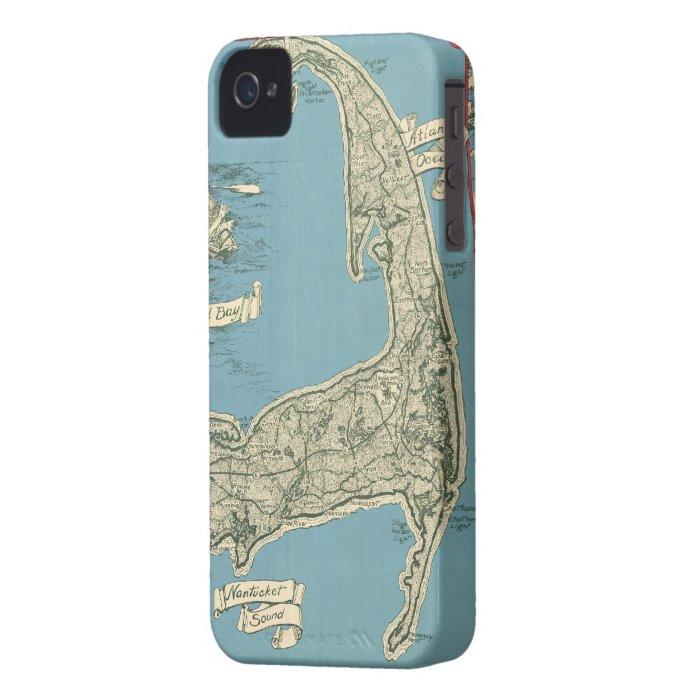 Vintage Map of Cape Cod (1945) Case-Mate iPhone 4 Case