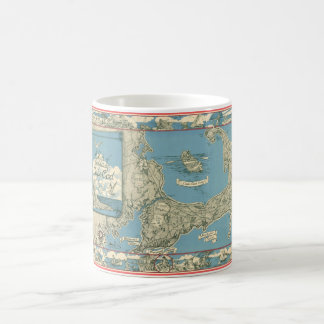 Vintage Map of Cape Cod (1945) Coffee Mug