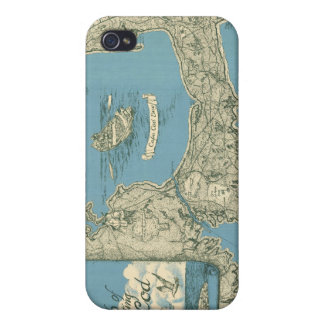 Vintage Map of Cape Cod 1945 iPhone 4/4S Cover