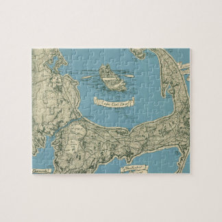 Vintage Map of Cape Cod (1945) Jigsaw Puzzle