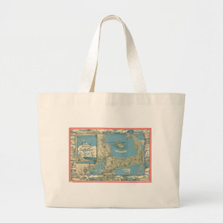 Vintage Map of Cape Cod (1945) Jumbo Tote Bag