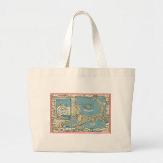 Vintage Map of Cape Cod (1945) Large Tote Bag