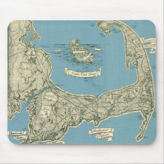 Vintage Map of Cape Cod (1945) Mouse Pad
