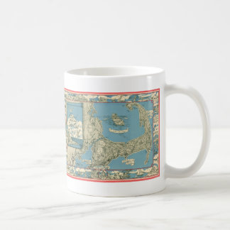 Vintage Map of Cape Cod (1945) Coffee Mugs