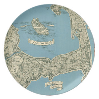 Vintage Map of Cape Cod (1945) Plate