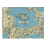Vintage Map of Cape Cod (1945) Postcard