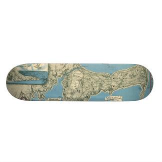 Vintage Map of Cape Cod (1945) Skateboard