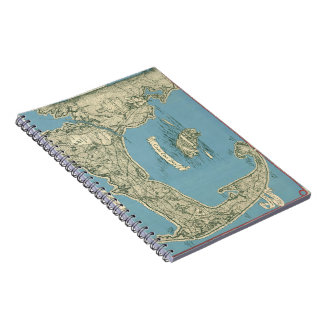 Vintage Map of Cape Cod (1945) Spiral Notebook