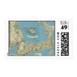 Vintage Map of Cape Cod (1945) Stamp