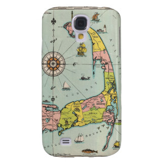Vintage Map of Cape Cod Galaxy S4 Cases