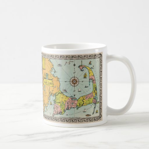 Vintage Map of Cape Cod Coffee Mug