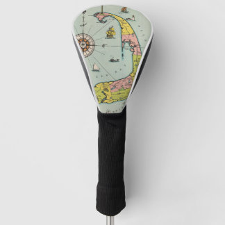 Vintage Map of Cape Cod Golf Head Cover