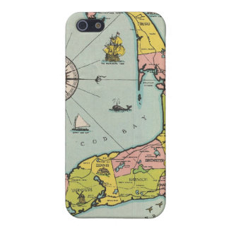 Vintage Map of Cape Cod Cases For iPhone 5