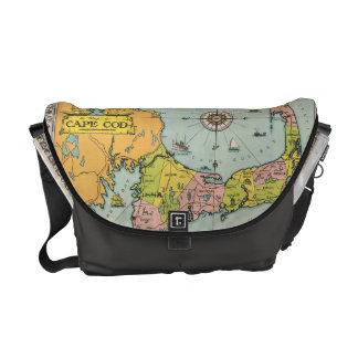 Vintage Map of Cape Cod Commuter Bags