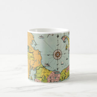 Vintage Map of Cape Cod Mugs