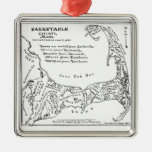 Vintage Map of Cape Cod Ornaments